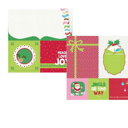Kaisercraft - Mint Twist Collection - Christmas - 12 x 12 Double Sided Paper - Ho Ho Ho!