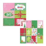 Kaisercraft - Mint Twist Collection - Christmas - 12 x 12 Double Sided Paper - Jingle