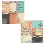 Kaisercraft - Periwinkle Collection - 12 x 12 Double Sided Paper - Impression