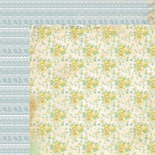 Kaisercraft - Pickled Pear Collection - 12 x 12 Double Sided Paper - Avocado