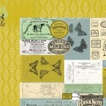 Kaisercraft - Pickled Pear Collection - 12 x 12 Double Sided Paper - Olive