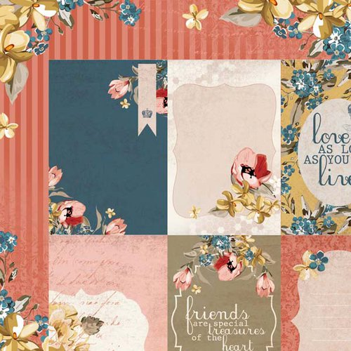 Kaisercraft - Forget-Me-Not Collection - 12 x 12 Double Sided Paper - Crown