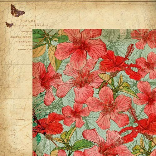 Kaisercraft - Tropicana Collection - 12 x 12 Double Sided Paper - Hibiscus