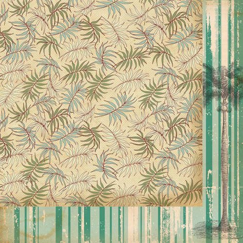 Kaisercraft - Tropicana Collection - 12 x 12 Double Sided Paper - Palm Tree