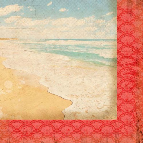 Kaisercraft - Tropicana Collection - 12 x 12 Double Sided Paper - Horizon