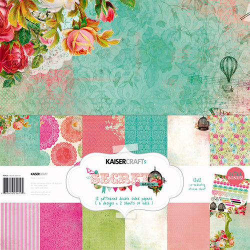 Kaisercraft - Secret Admirer Collection - 12 x 12 Paper Pack