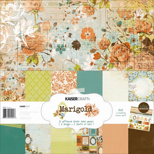 Kaisercraft - Marigold Collection - 12 x 12 Paper Pack