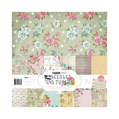 Kaisercraft - Needle and Thread Collection - 12 x 12 Paper Pack
