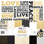 Kaisercraft - A Touch of Gold Collection - 12 x 12 Paper Pack