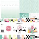Kaisercraft - My Year, My Story Collection - 12 x 12 Paper Pack