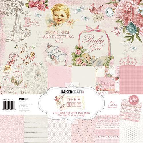 Kaisercraft - Peek-A-Boo Collection - 12 x 12 Paper Pack - Girl