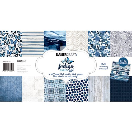 Kaisercraft - Indigo Skies Collection - 12 x 12 Paper Pack