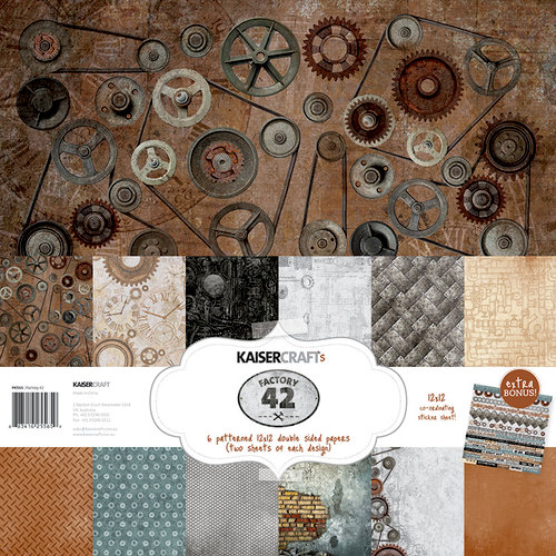 Kaisercraft - Factory 42 Collection - 12 x 12 Paper Pack