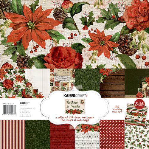 Kaisercraft - Letters to Santa Collection - Christmas - 12 x 12 Paper Pack