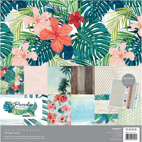 Kaisercraft - Paradise Found Collection - 12 x 12 Paper Pack