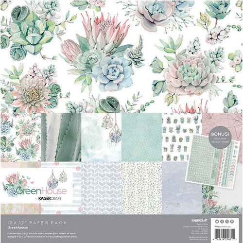 Kaisercraft - Greenhouse Collection - 12 x 12 Paper Pack