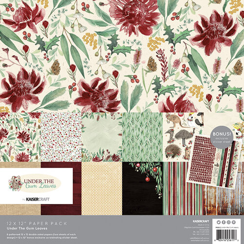 Kaisercraft - Christmas - Under The Gum Leaves Collection - 12 x 12 Collection Pack