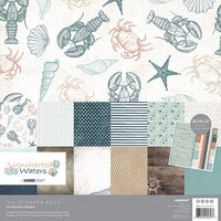 Kaisercraft - Uncharted Waters Collection - 12 x 12 Paper Pack with Bonus Sticker Sheet