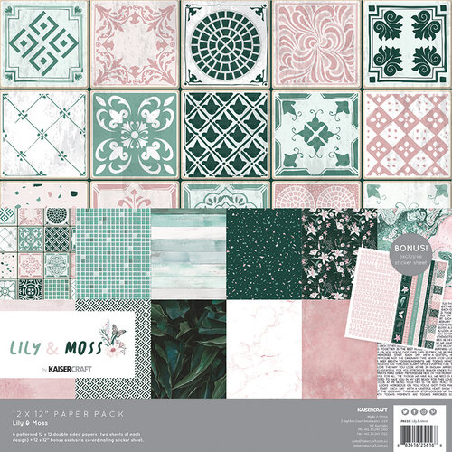 Kaisercraft - Lily and Moss Collection - 12 x 12 Collection Kit