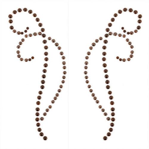 Kaisercraft - Pearl Flourishes - Bling - Decorative - Chocolate