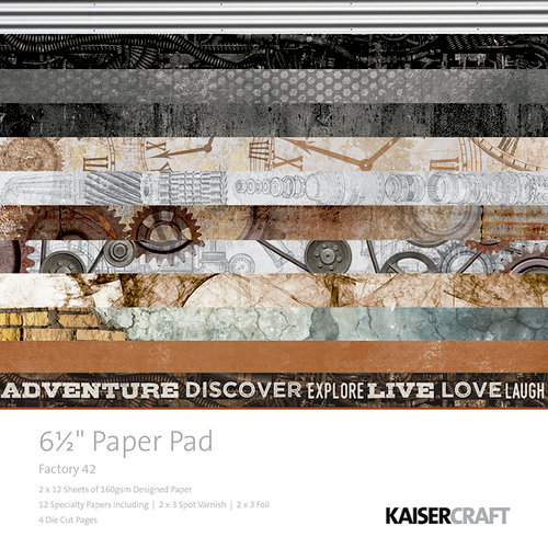 Kaisercraft - Factory 42 Collection - 6.5 x 6.5 Paper Pad