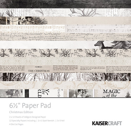 Kaisercraft - Christmas Edition Collection - 6.5 x 6.5 Paper Pad