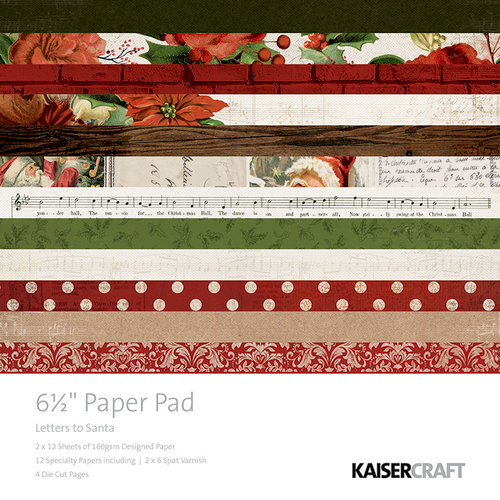Kaisercraft - Letters to Santa Collection - Christmas - 6.5 x 6. 5 Paper Pad