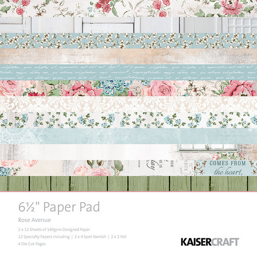 Kaisercraft - Rose Avenue Collection - 6.5 x 6.5 Paper Pad