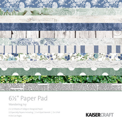 Kaisercraft - Wandering Ivy Collection - 6.5 x 6.5 Paper Pad
