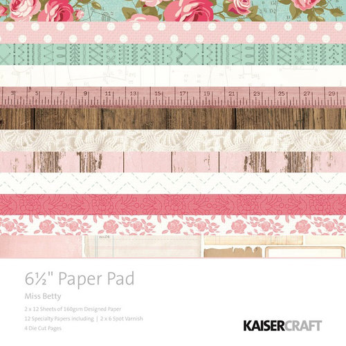Kaisercraft - Miss Betty Collection - 6.5 x 6.5 Paper Pad