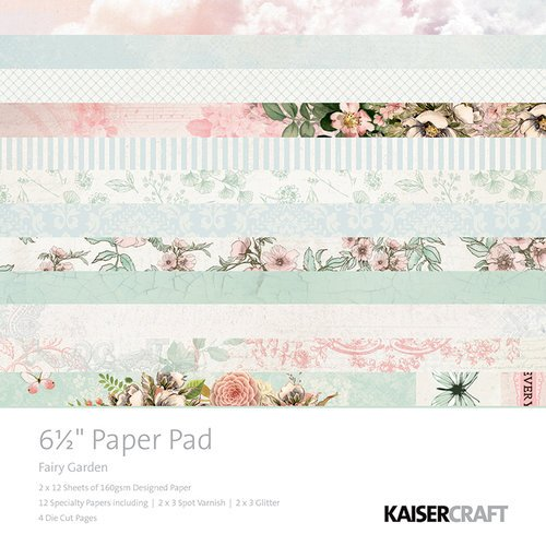 Kaisercraft - Fairy Garden Collection - 6.5 x 6.5 Paper Pad