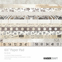 Kaisercraft - Pen and Ink Collection - 6.5 x 6.5 Paper Pad
