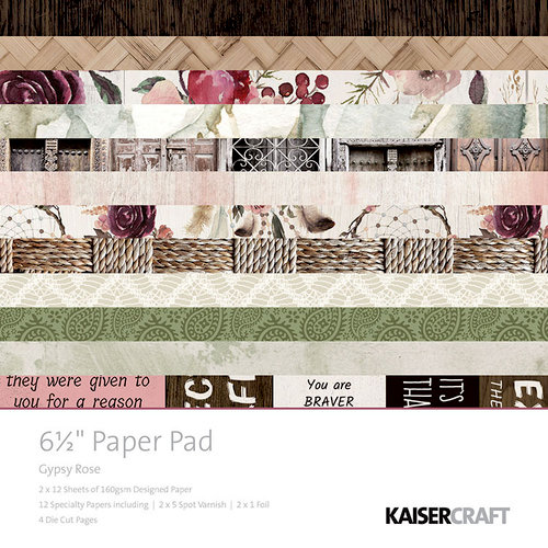 Kaisercraft - Gypsy Rose Collection - 6.5 x 6.5 Paper Pad