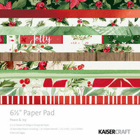 Kaisercraft - Peace and Joy Collection - Christmas - 6.5 x 6.5 Paper Pad