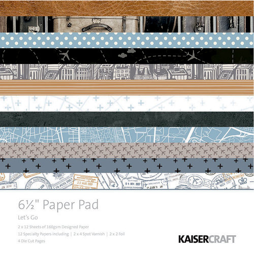 Kaisercraft - Let's Go Collection - 6.5 x 6.5 Paper Pad