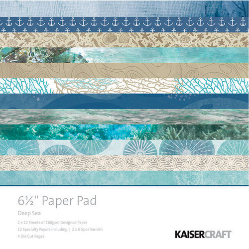 Kaisercraft - Deep Sea Collection - 6.5 x 6.5 Paper Pad