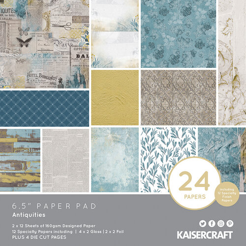 Kaisercraft - Antiquities Collection - 6.5 x 6.5 Paper Pad