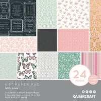 Kaisercraft - With Love Collection - 6.5 x 6.5 Paper Pad with Foil Accents