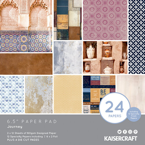 Kaisercraft - Journey Collection - 6.5 x 6.5 Paper Pad