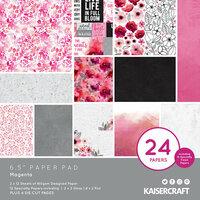 Kaisercraft - Magenta Collection - 6.5 x 6.5 Paper Pad