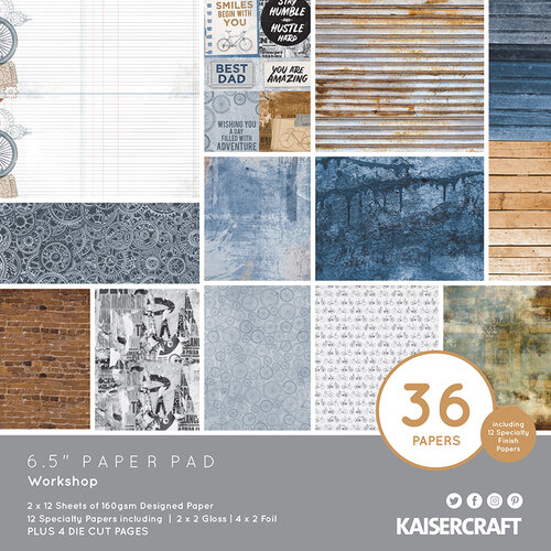 Kaisercraft - Workshop Collection - 6.5 x 6.5 Paper Pad