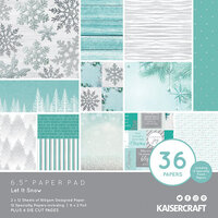 Kaisercraft - Christmas - Let It Snow Collection - 6.5 x 6.5 Paper Pad