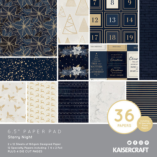 Kaisercraft - Christmas - Starry Night Collection - 6.5 x 6.5 Paper Pad
