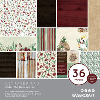 Kaisercraft - Christmas - Under The Gum Leaves Collection - 6.5 x 6.5 Paper Pad