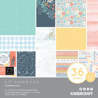 Kaisercraft - Crafternoon Collection - 6.5 x 6.5 Paper Pad