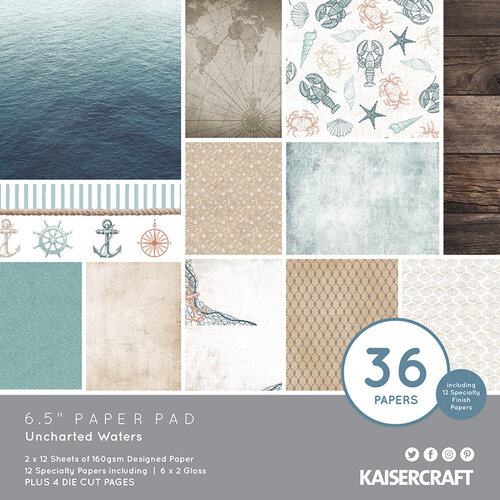 Kaisercraft - Uncharted Waters Collection - 6.5 x 6.5 Paper Pad