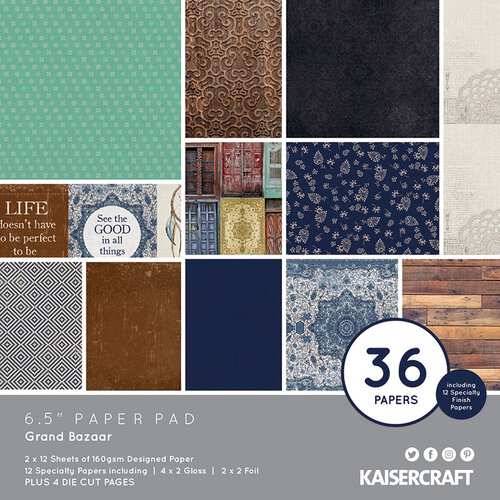 Kaisercraft - Grand Bazaar Collection - 6.5 x 6.5 Paper Pad
