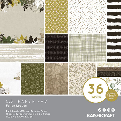 Kaisercraft - Fallen Leaves Collection - 6.5 x 6.5 Paper Pad