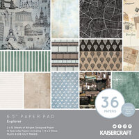 Kaisercraft - Explorer Collection - 6.5 x 6.5 Paper Pad