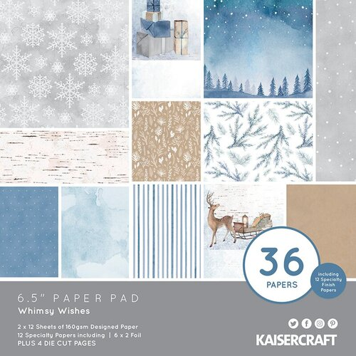 Kaisercraft - Whimsy Wishes Collection - 6.5 x 6.5 Paper Pad